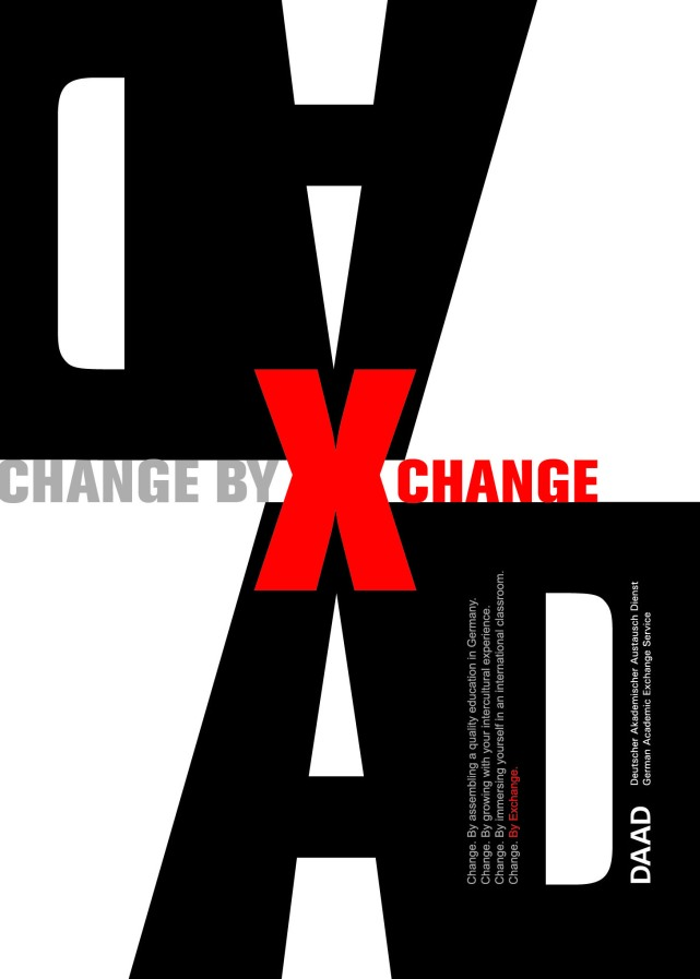 Change by Exchange | Poster Design for student exchange program at The German Academic Exchange Service (DAAD, NY)