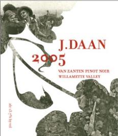 J. Daan | Wine Label Design (Pinot Noir)