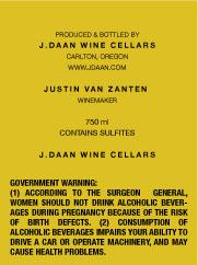 J. Daan | Wine Label Design