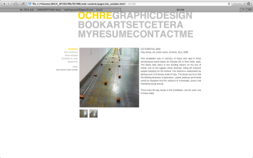 Ochre | Programming and Interface Design