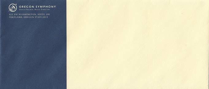 Oregon Symphony | Envelope Design