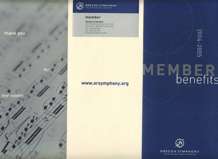 Oregon Symphony | Trifold Brochure Design