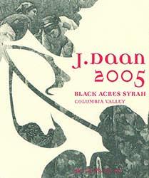 J. Daan | Wine Label Design (Syrah)