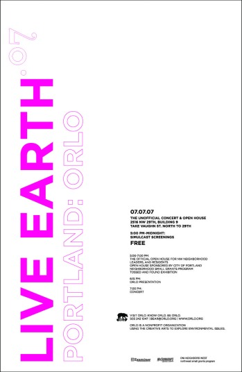 Bear Deluxe Live Earth Concert | Poster design