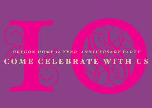 Oregon Home | 10th Anniversary Postcard Design