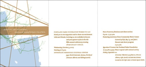 Portland Parks Foundation | Gala Invitation Design (inside)