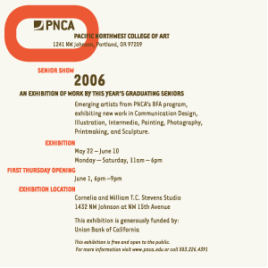 PNCA | Commencement Invitation Design