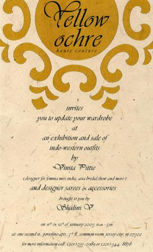 Yellow Ochre | Invitation Design