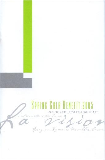 PNCA | Spring Gala Program Design (front)