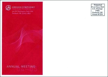 Oregon Symphony | Annual Meeting Envelope Design