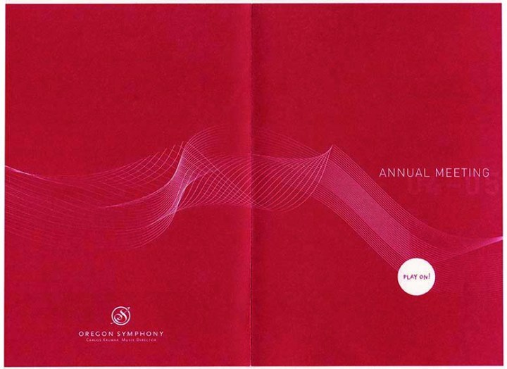 Oregon Symphony | Annual Meeting Invitation Design (front view)
