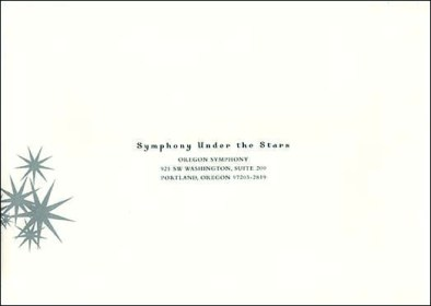 Oregon Symphony | Gala RSVP Envelope Design