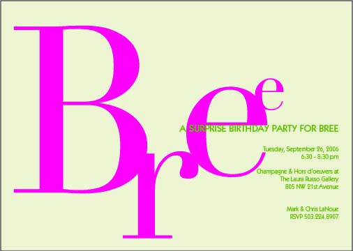 Birthday invitation design