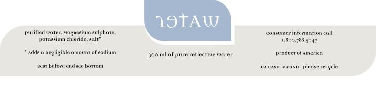 Retaw | Bottled water concept label design