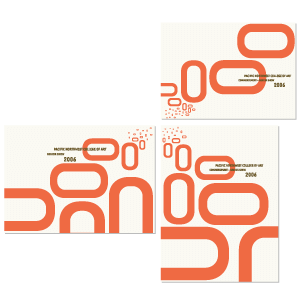 PNCA | Commencement Invitation, Program and Posctcard Design