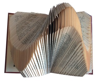 Folded Book Sculpture: Altered Book, $175