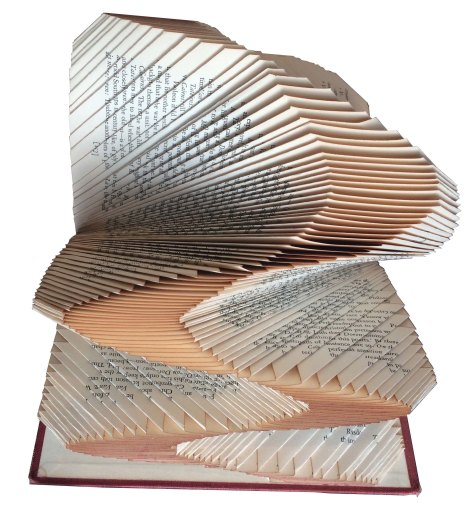 Folded Book Sculpture: Altered Book; $175