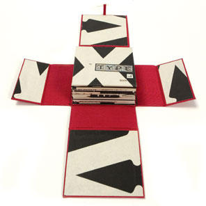 My Type of Book: Folding-accordion book, found paper; $175